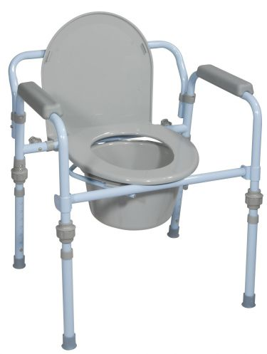Folding Steel Commode, Retail